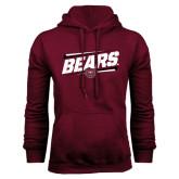 Maroon Fleece Hoodie-Slanted Bears w/ Bear Head