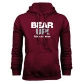 Maroon Fleece Hoodie-Bear Up!
