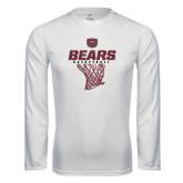 Performance White Longsleeve Shirt-Bears Basketball Hanging Net