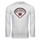Syntrel Performance White Longsleeve Shirt-Bears Baseball Arched in Diamond
