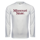 Syntrel Performance White Longsleeve Shirt-Missouri State