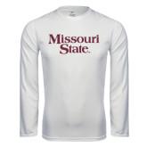Performance White Longsleeve Shirt-Missouri State
