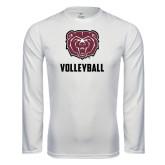 Performance White Longsleeve Shirt-Volleyball