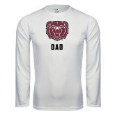 Syntrel Performance White Longsleeve Shirt-Dad