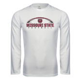 Syntrel Performance White Longsleeve Shirt-Missouri State Football w/ Ball