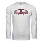 Syntrel Performance White Longsleeve Shirt-Missouri State Football w/ Ball