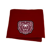 Maroon Sweatshirt Blanket-Bear Head