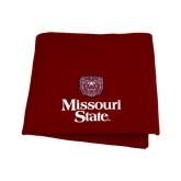 Maroon Sweatshirt Blanket-Bear Head Missouri State Stacked