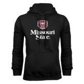 Black Fleece Hoodie-Bear Head Missouri State Stacked