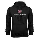 Black Fleece Hoodie-Missouri State University Stacked w/ Bear Head