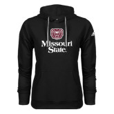 Adidas Climawarm Black Team Issue Hoodie-Bear Head Missouri State Stacked