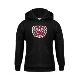 Youth Black Fleece Hoodie-Bear Head