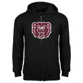 Black Fleece Full Zip Hoodie-Bear Head