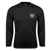 Syntrel Performance Black Longsleeve Shirt-Bear Head