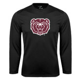 Performance Black Longsleeve Shirt-Bear Head