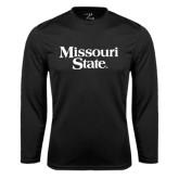 Performance Black Longsleeve Shirt-Missouri State