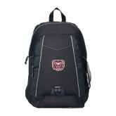 Impulse Black Backpack-Bear Head