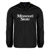 V Neck Black Raglan Windshirt-Missouri State