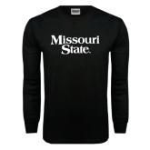 Black Long Sleeve TShirt-Missouri State
