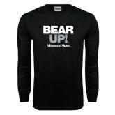 Black Long Sleeve TShirt-Bear Up!