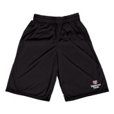 Russell Performance Black 10 Inch Short w/Pockets-Bear Head Missouri State Stacked