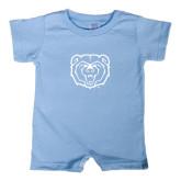 Light Blue Infant Romper-Bear Head