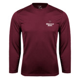 Syntrel Performance Maroon Longsleeve Shirt-Bear Head Missouri State Stacked