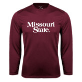 Performance Maroon Longsleeve Shirt-Missouri State