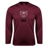 Performance Maroon Longsleeve Shirt-Dad