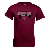 Maroon T Shirt-Arched Missouri State Bears Shield