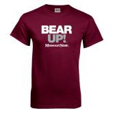 Maroon T Shirt-Bear Up!