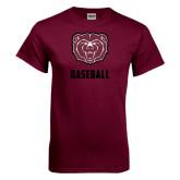 Maroon T Shirt-Baseball