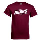 Maroon T Shirt-Slanted Bears w/ Bear Head