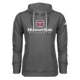 Adidas Climawarm Charcoal Team Issue Hoodie-Missouri State University Stacked w/ Bear Head
