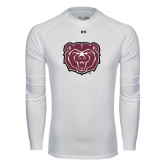 Under Armour White Long Sleeve Tech Tee-Bear Head