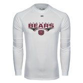 Under Armour White Long Sleeve Tech Tee-Bears Football Stacked