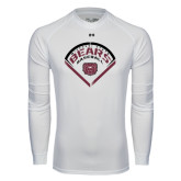 Under Armour White Long Sleeve Tech Tee-Bears Baseball Arched in Diamond