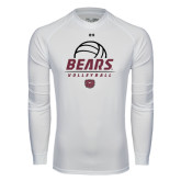 Under Armour White Long Sleeve Tech Tee-Bears Volleyball Stacked
