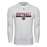 Under Armour White Long Sleeve Tech Tee-Missouri State University Volleyball Stencil