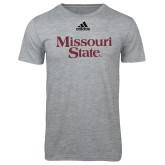 Adidas Sport Grey Logo T Shirt-Missouri State