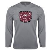 Performance Steel Longsleeve Shirt-Bear Head