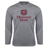 Performance Steel Longsleeve Shirt-Bear Head Missouri State Stacked