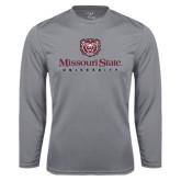 Performance Steel Longsleeve Shirt-Missouri State University Stacked w/ Bear Head