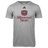 Adidas Climalite Sport Grey Ultimate Performance Tee-Bear Head Missouri State Stacked