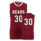 Replica Maroon Adult Basketball Jersey-#30