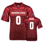 University Replica Maroon Adult Football Jersey-Personalized