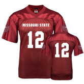 University Replica Maroon Adult Football Jersey-#12