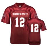 University Replica Maroon Adult Football Jersey-#12