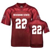 University Replica Maroon Adult Football Jersey-#22