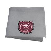 Grey Sweatshirt Blanket-Bear Head